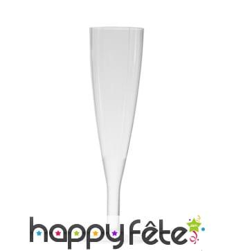 Flutes en plastique cristal monobloc