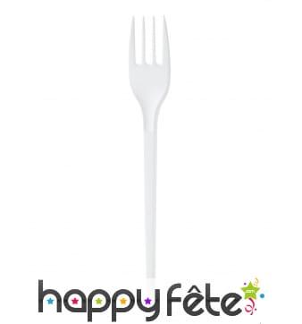 Fourchettes en plastique blanc de 16.5cm