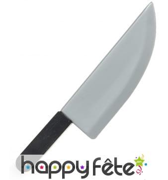 Faux grand couteau de cuisine en plastique