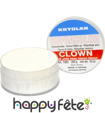 Fard gras de clown blanc 150 ml