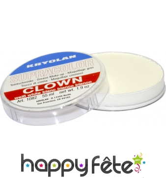 Fard gras de clown blanc 55 ml