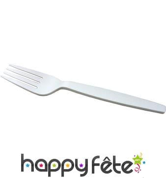 Fourchettes jetables en bioplastiques