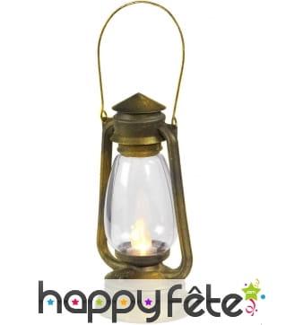 Fausse lampe à huile lumineuse de 25cm