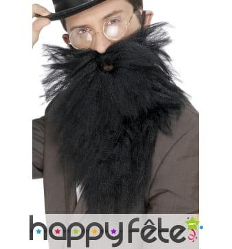 Fausse longue barbe avec moustaches noires