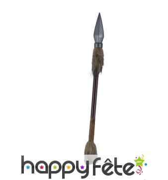 Fausse lance décorée de fourrure, 44cm