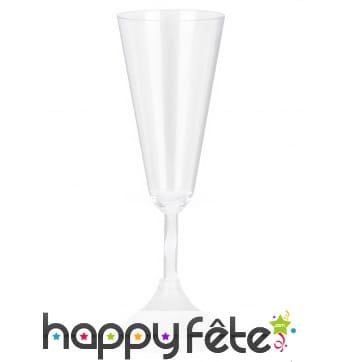 Flûte lumineuse en plastique transparent