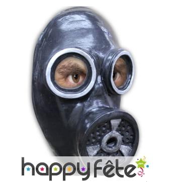 Faux masque à gaz en latex