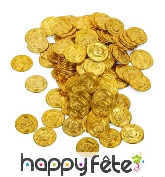 Fausse monnaie de pirate, 144 pièces dorées