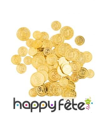 Fausse monnaie dorée de pirate