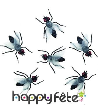 Fausses mouches noires en plastique