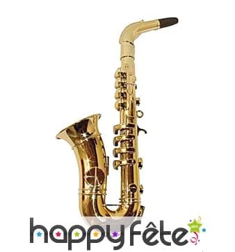 Faux saxophone doré avec 8 notes