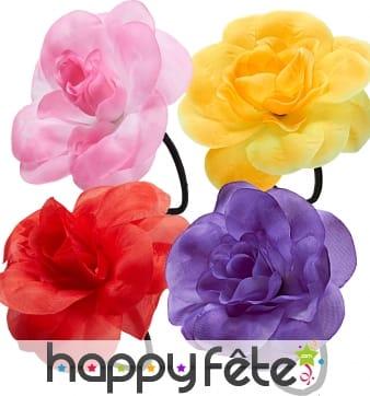 Fleur sur elastique couleurs assorties