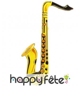 Faux saxophone gonflable