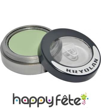 Fard sec mat compact vert paupieres et joues
