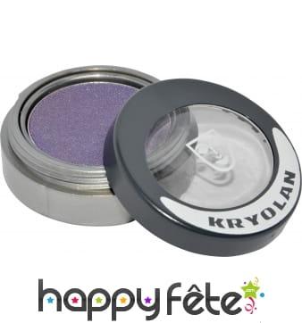 Fard sec mat compact violet paupieres et joues