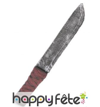 Faux vieux couteau en mousse de 32cm