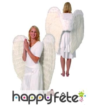 Grandes ailes d'ange en plumes