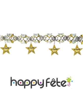 Guirlande bonne année avec étoiles imprimées