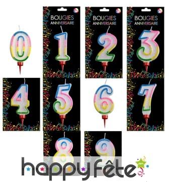 Grande bougie chiffre pour anniversaire