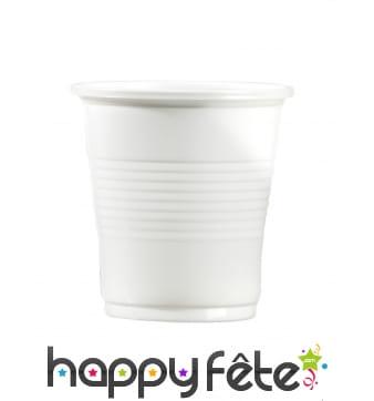 Gobelets blancs de 10cl en plastique