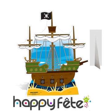 Grand bateau de pirate en carton plat