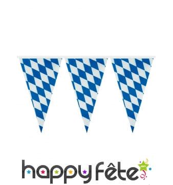 Guirlande bavaroise de fanions bleus et blancs