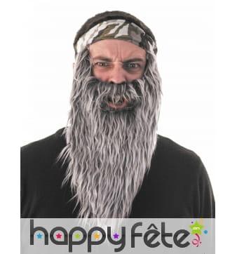 Grosse Barbe moustache grise