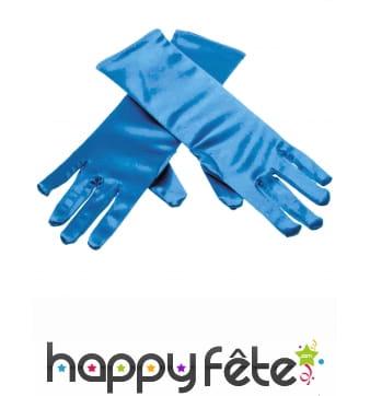 Gants bleus princesse des glaces pour enfant