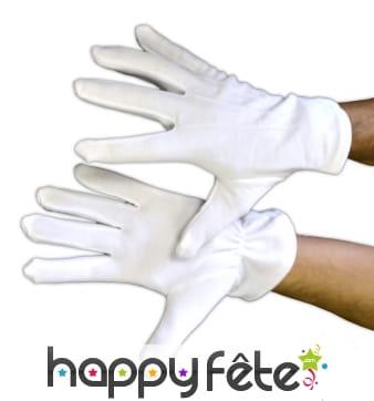 Gants blancs qualité pro, polyester