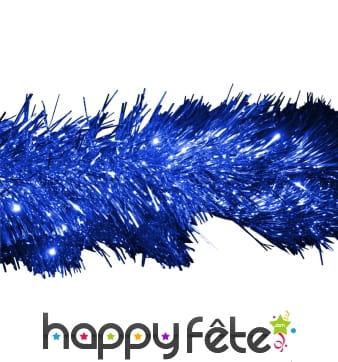 Guirlande chenille bleue de 16cm x 10m