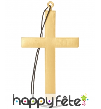 Grande croix dorée de moine