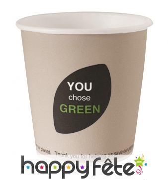 Gobelet compostable en carton biodégradable