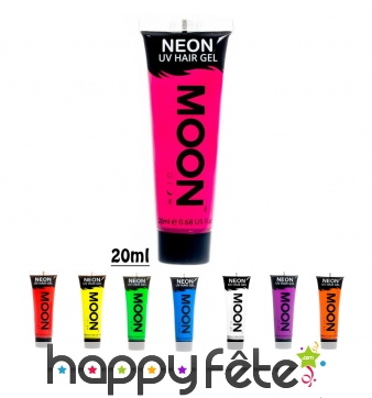 Gel cheveux fluo UV, Moonglow