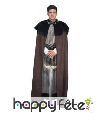 Grande cape médiévale marron pour homme