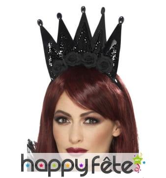 Grande couronne noire de reine maléfique