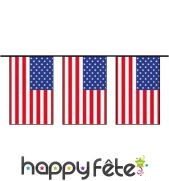Guirlande drapeau américain en plastique