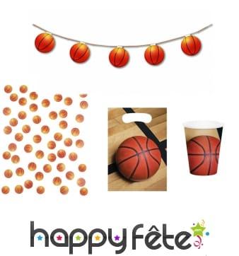 Guirlande de ballons de basket 3,20m