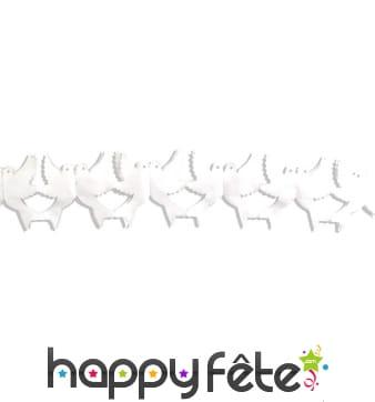 Guirlande de colombes en papier, 4m