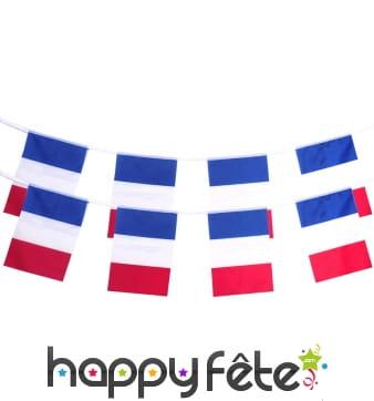 Guirlande de drapeaux Français, 10m