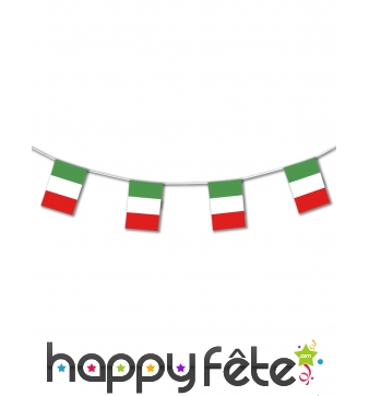 Guirlande drapeaux d'Italie de 5m
