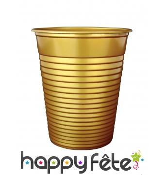 Gobelets dorés en plastique de 200ml