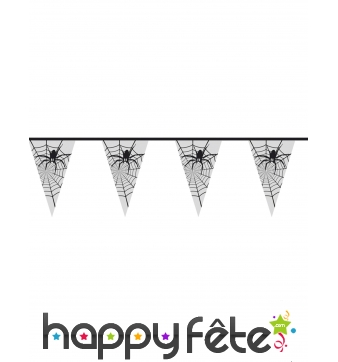 Guirlande de fanions araignées transparents