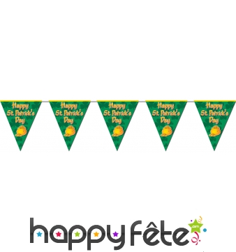 Guirlande de fanions Happy St Patrick's Day