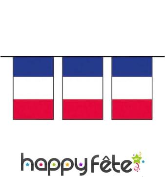 Guirlande drapeau français en plastique