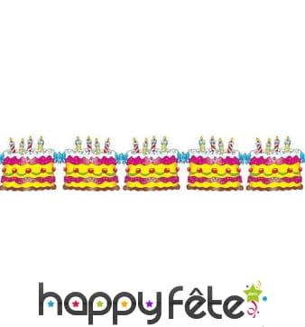 Guirlande de gâteaux d'anniversaire, 3m