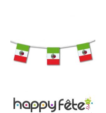 Guirlande drapeau Mexique de 5 mètres