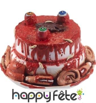 Gâteau d'organes et de sang avec yeux qui bougent