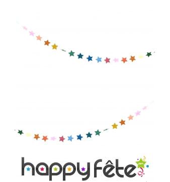 Guirlande de petites étoiles colorées, 3m