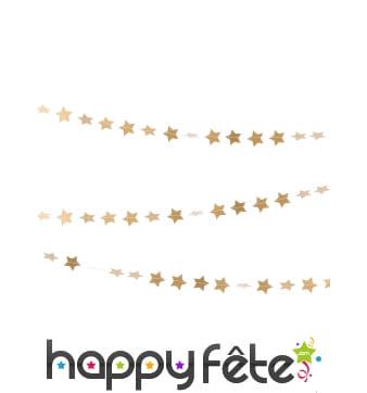 Guirlande de petites étoiles dorées 3m