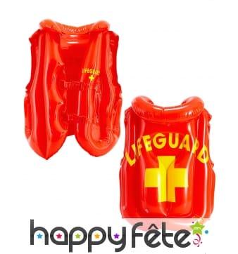 Gilet de sauvetage lifeguard gonflable pour adulte